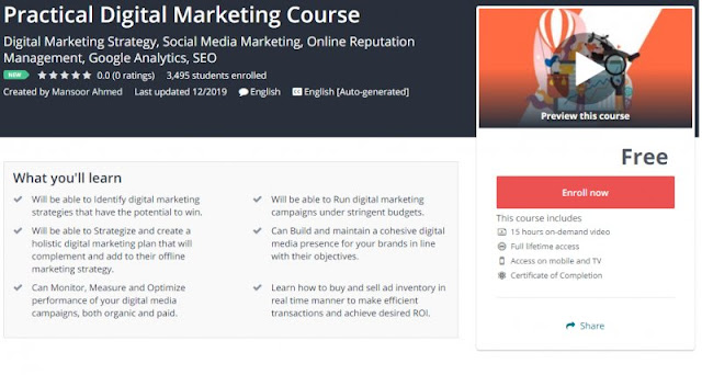 [100% Free] Practical Digital Marketing Course