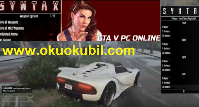 GTA5 PC Online SYNTAX 1.60 IŞINLANMA Mod Menu İndir Şubat 2020