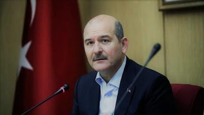 وزير الداخلية التركي يصاب بكرونا