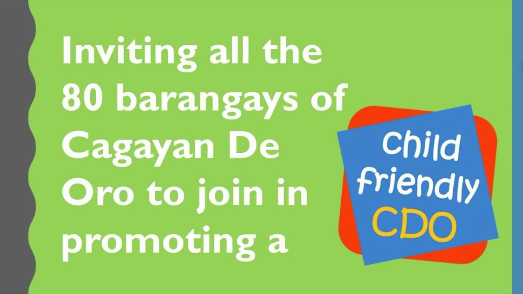 The Search is on for 2020 Most Child-Friendly Barangays in CDO