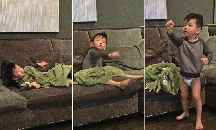 والدان يبتكران طريقة غريبة لإيقاظ طفلهما بسرعة شاهد الفيديو !!