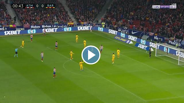 Atlético Madrid vs Barcelona Live Score