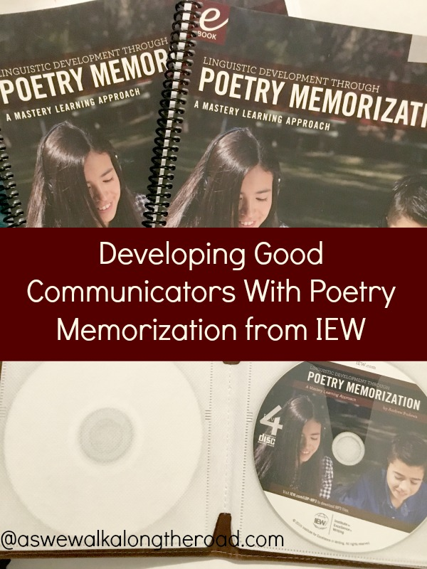 Poetry memorization from IEW
