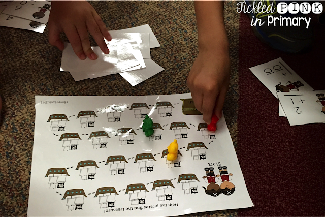 Summer Literacy and Math Centers - Pirate Addition and Substraction