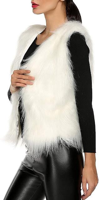 Quality White Faux Fur Vests For Women