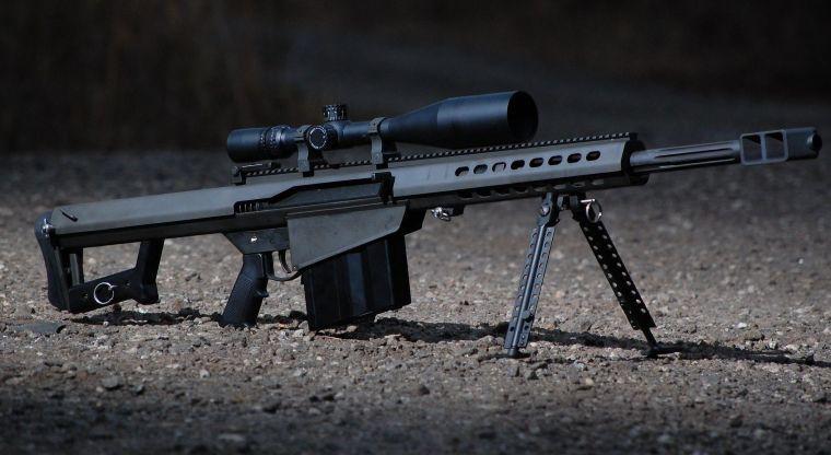 Así es un Barrett M82, la poderosa arma utilizada por el narco