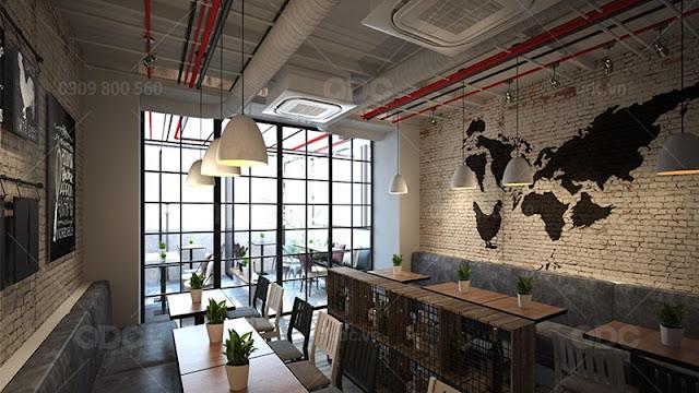 Thực khách cảm thấy như hoà mình với thiên nhiên khi được ngồi trong một nhà hàng với không gian mở