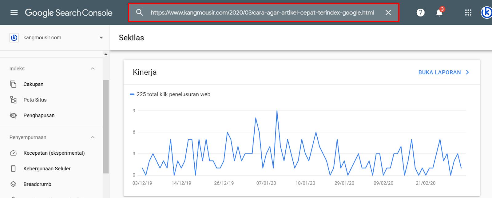 Cara Agar Artikel Cepat Terindex Google Dalam Hitungan Detik