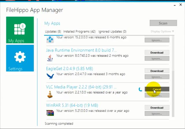 تحديث جميع البرامج والتطبيقات على الكمبيوتر إلى آخر نسخة