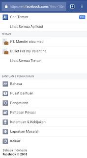 Pengaturan Facebook Android