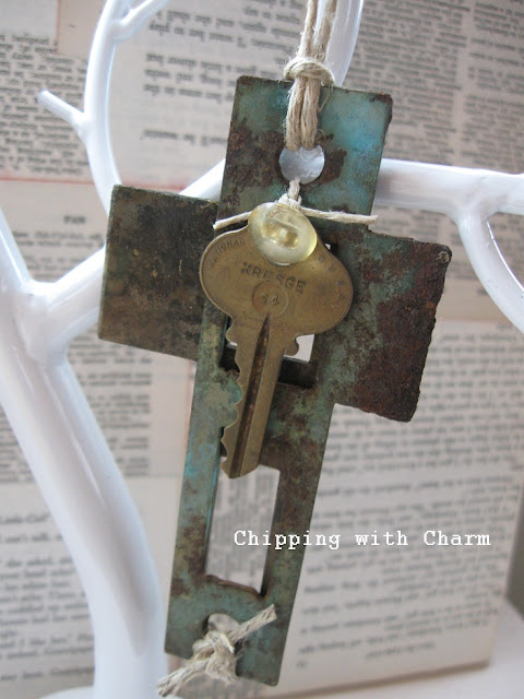 Chipping with Charm: Strike Plate Cross...http://www.chippingwithcharm.blogspot.com/
