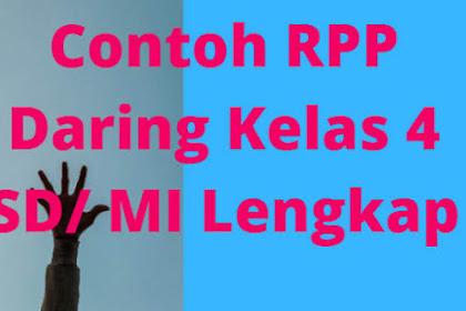Contoh RPP Daring Kelas 4 SD/ MI Lengkap
