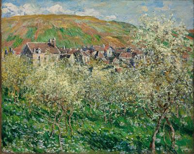 Claude Monet - Pruniers en fleur,1879.