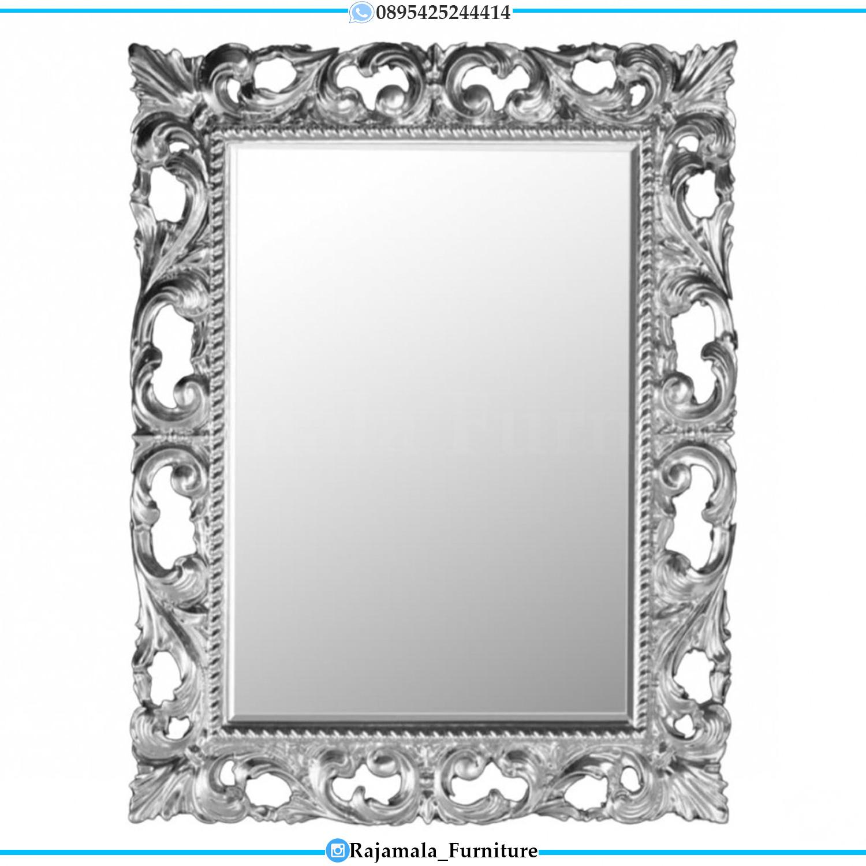 Cermin Kaca Mewah Luxury Carving Silver Duco Color Jepara RM-0501