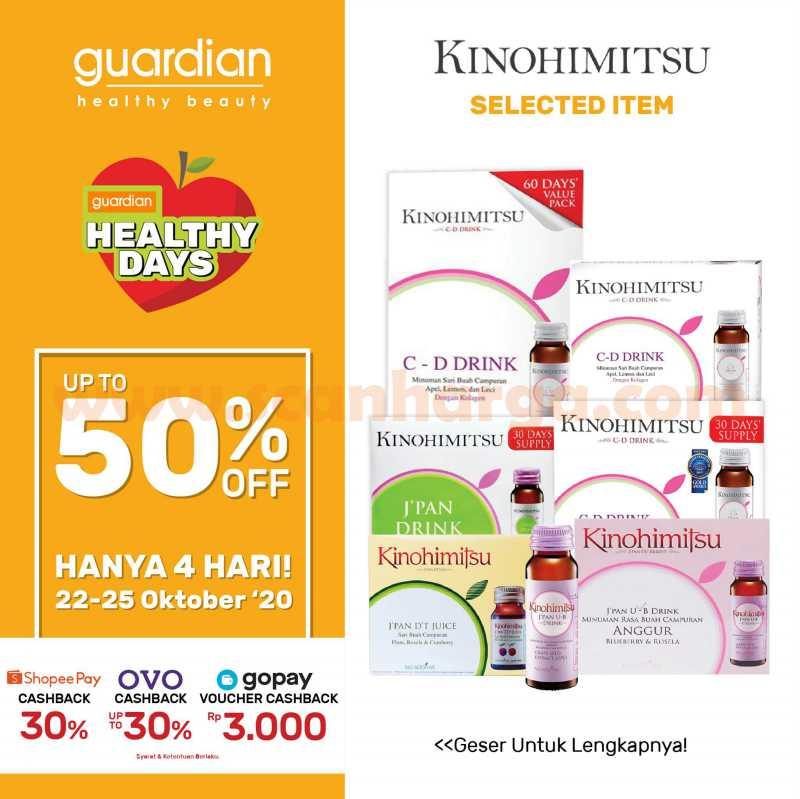 Guardian Promo Kinohimitsu! Diskon up to 50% off untuk selected item*