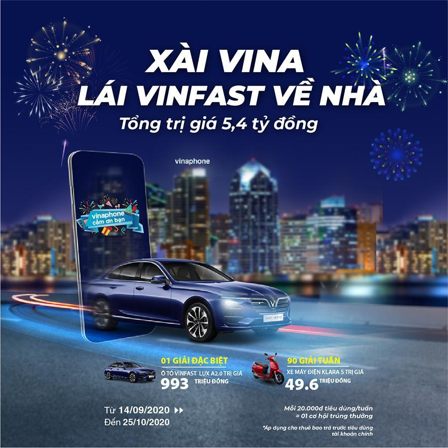 Vinaphone tặng Xe Ôtô, Xe máy điện cho khách hàng