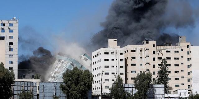 Detik-detik Mengerikan Sebelum Israel Hancurkan Menara Al Jalaa