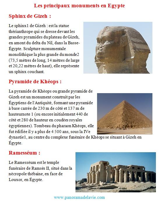 بحث جاهز حول مصر بالفرنسية