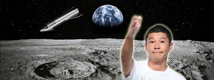 bilionário japonês busca 8 pessoas para viajar para a Lua com ele em 2023