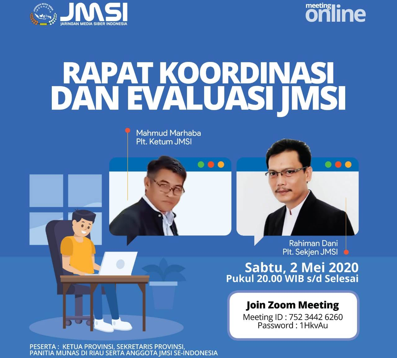 Rencana Munas JMSI, Pengurus Pusat Lakukan Rakorev