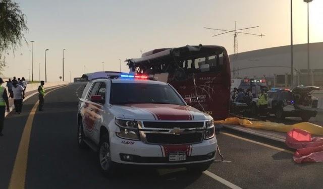 """""""مواصلات"""" تصدر بياناً جديداً وتكشف جنسيات المتوفين في حادث دبي"""
