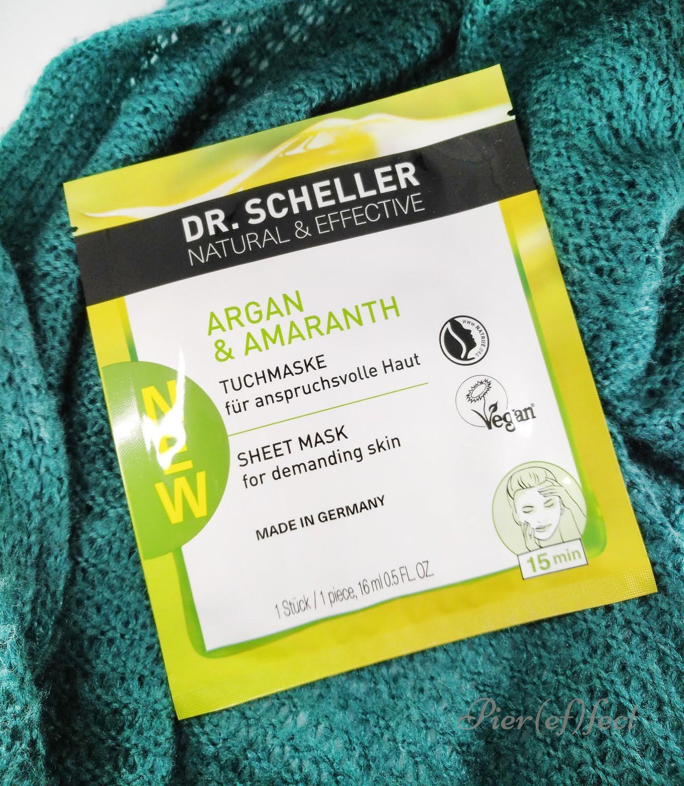 Dr Scheller Argan Bio & Amaranto Maschera in tessuto recensione
