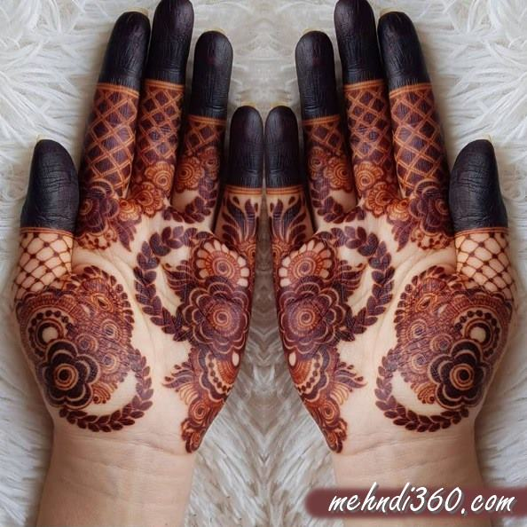 Two Hand Mehndi Design Front