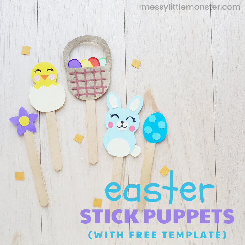 Easter stick puppets craft