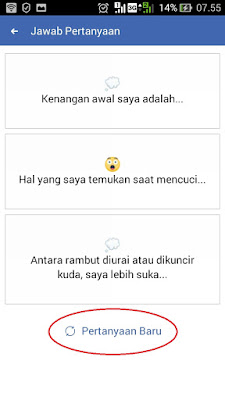 cara buat status facebook pertanyaan 2