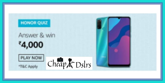 Amazon Honor 9A Quiz Answers Win – Rs.4000