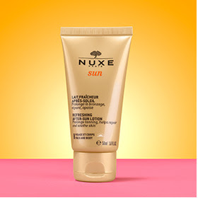 my midlife fashion, marks and spencer beauty box, nuxe sun refreshing after sun lotion for face and body
