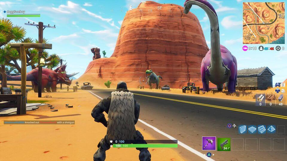 Fortnite Challenge Location Guide (Season 5 Week 2) | Where To Search Between An Oasis, Rock Archway And Dinosaurs