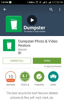 TechEarnBlog-Download Dumpster recycle bin