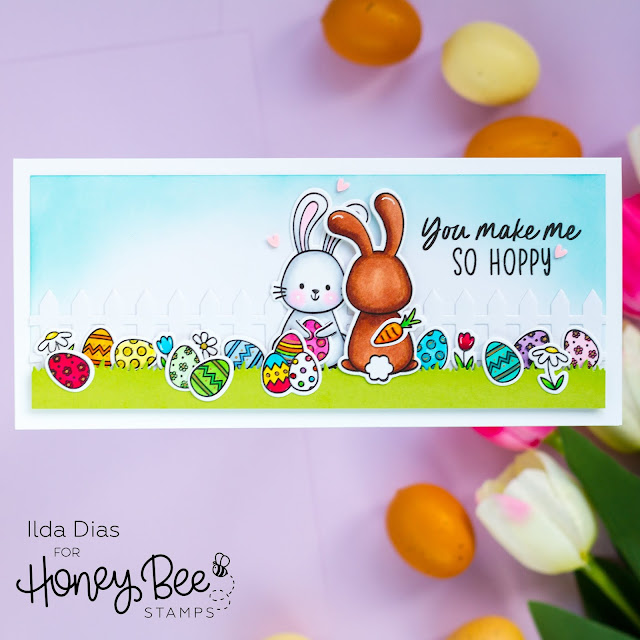 You Make Me So Hoppy Slimline Card,Spring Bliss Instagram Hop,Giveaway,Honey Bee Stamps, Itty Bitty Easter Egg Shaker Card,Card Making, Stamping, Die Cutting, handmade card, ilovedoingallthingscrafty, Stamps, how to,
