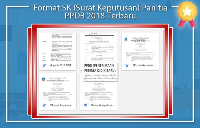 Format SK (Surat Keputusan) Panitia PPDB 2018 Terbaru