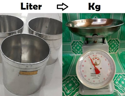 1 Liter Berapa Kilogram (Kg)