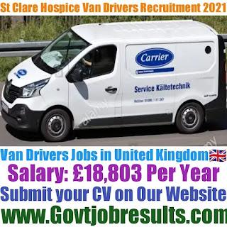 St Clare Hospice Van Driver Recruitment 2021-22