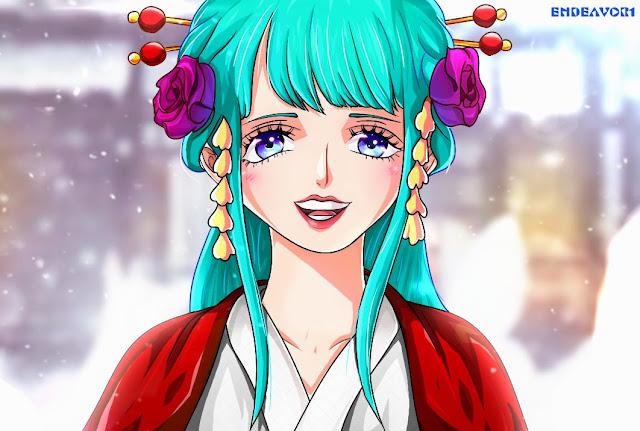 Manga One Piece Chapter 977: Hiyori akan Menyelamatkan Momonosuke?