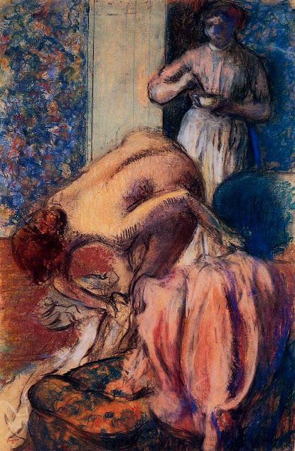 Эдгар Дега - Завтрак после купания (1894)