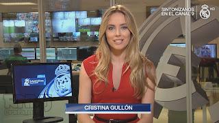 Cristina Gullón, periodista de noticias en Real Madrid Televisión en abierto