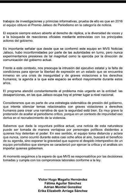 Gobierno de Enrique Alfaro presiona a MVS Occidente y despide a periodistas