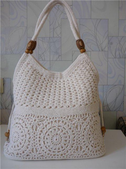 белая сумочки крючком схемы - Сумки.