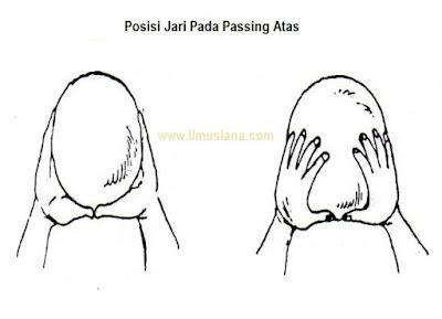 posisi jari passing atas