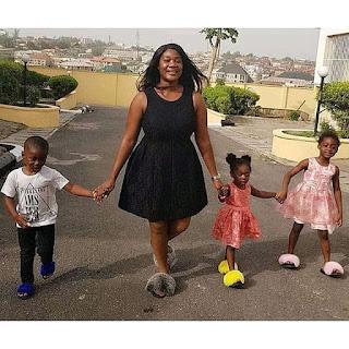 Mercy Johnson and her children