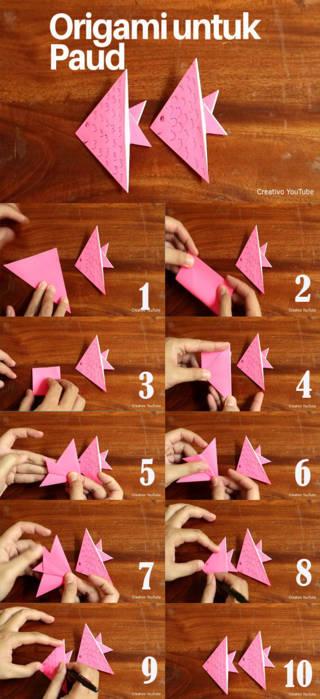 melipat origami tema binatang