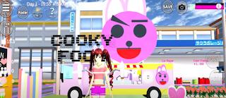 ID Food Truck BT21 Cooky Di Sakura School Simulator