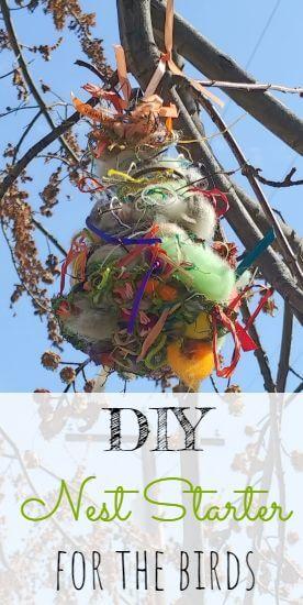 DIY Spring Nest Starter For The Birds