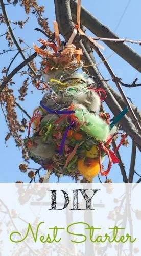 DIY Spring Nest Starter For The Birds