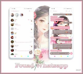 Girls & Flower Theme For YOWhatsApp & Fouad WhatsApp By Graciela