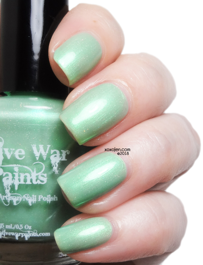xoxoJen's swatch of Native War Paints Mint to Be Lucky